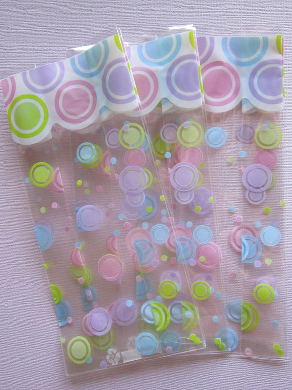 Spring Mod Dot Party Bags ~ Favor Bags ~ Goodie Bags ~ Set of 20