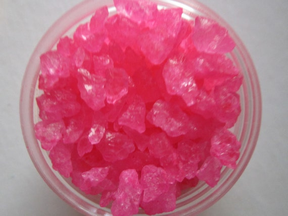 Pink Rock Candy ~ Cherry Flavored ~ Cupcake Sprinkle