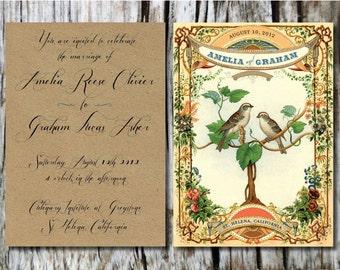 Vintage Bird Invitations