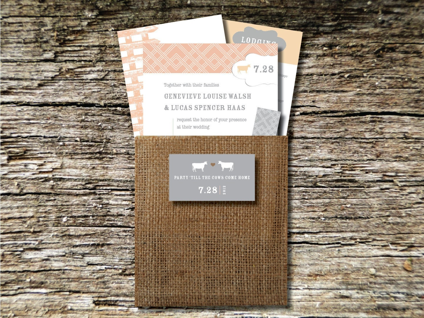barn wedding invitations sample by huntandgatherpaper on etsy, Wedding invitations
