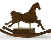 Natural Walnut Hand-crafted Rocking Horse