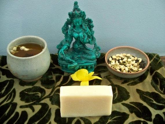 CLEARANCE Jasmine Green Tea Soap Made with Organic Teas & Jasmine Essential Oil