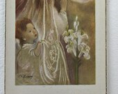 Vintage 1st Holy Communion cards 1952. set of 2 from Evas collections