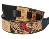 Mens guitar strap - Led ZEPPELIN CD covers / Fathers Day gift /Cool guitar strap