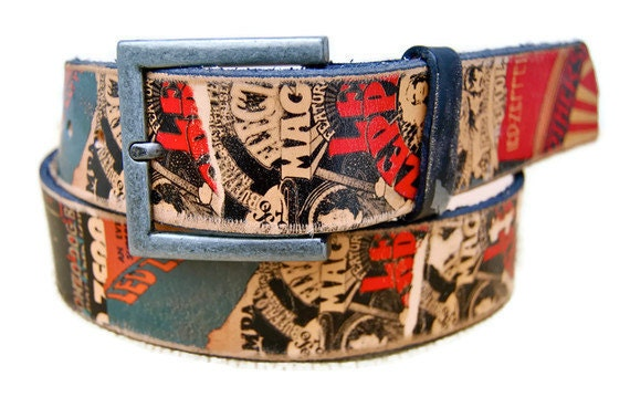 Leather guitar strap , LED ZEPPELIN - reserved listing for Katie Cartier