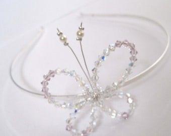 Elise Swarovski Crystal Butterfly Tiara