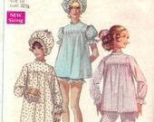 1960s Vintage Nightgown & Pajama Pattern Simplicity 7841 Size 10