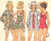 1970s Beach Wear Pattern Simplicity 6356 Size 16