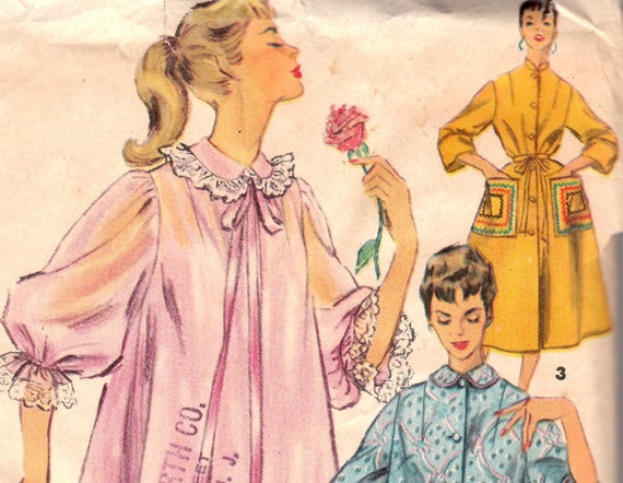 1950s Robe Housecoat Pattern Simplicity 4972 Size 12