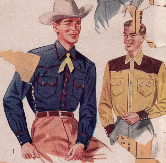 50s Western Shirt Pattern Simplicity 4150