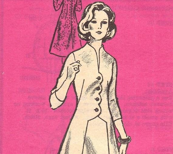 Wonderful 1970s A-line Dress Pattern Anne Adams 4806 Size 18 Uncut