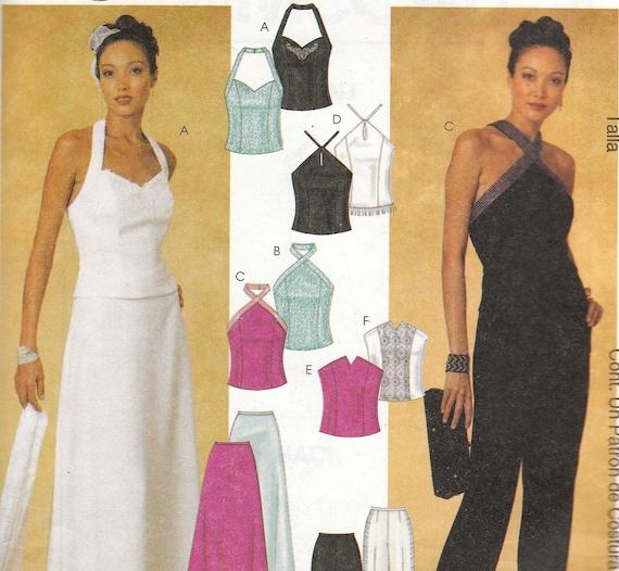 Evening Halter Top & Skirt or Pants Pattern McCalls 3958 Size 12-18 Uncut