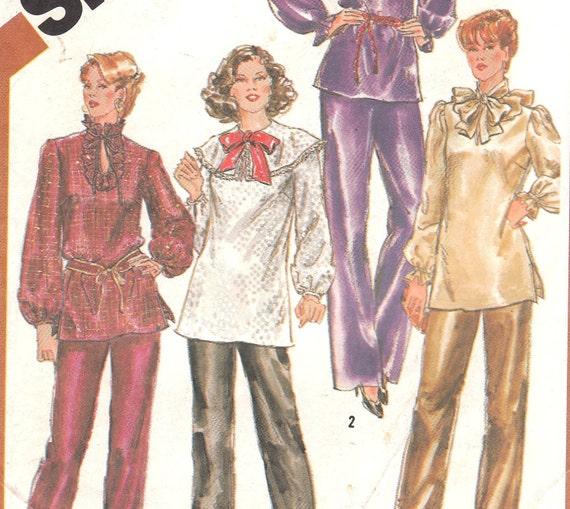 80s Elaborate Blouse & Pants Pattern Simplicity 5326 Size 22 24  Uncut