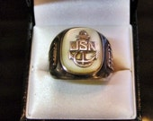 SPECIAL NOW 90.OO  United States Navy Sterling Silver Ring