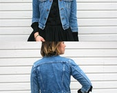 Vintage X - Small Jean Jacket // Boy, Girl or Small Womens // Rocky Size 122