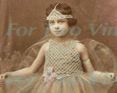 Tiny dancer ballet ballerina antique photograph download