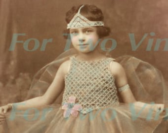 Tiny dancer ballet ballerina antique photograph download