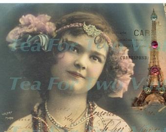 I dream of Paris postcard set digital download