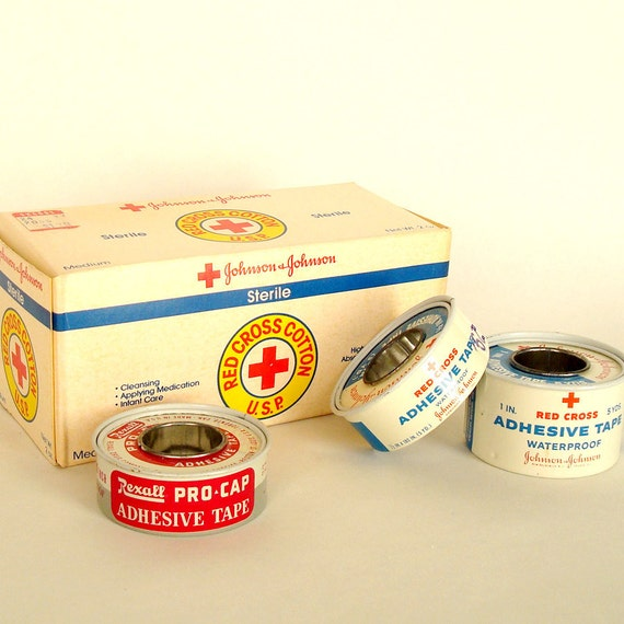 Vintage Product - Red Cross Cotton and Tape
