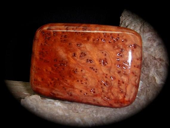 Handmade Old Growth Redwood Lace Burl Belt Buckle - RARE -