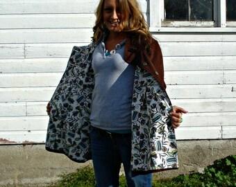 Corduroy Swing Coat, Women's Winter or Spring Jacket, Custom-Designed
