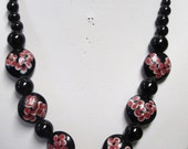 PINK and BLACK  ONYX  Necklace
