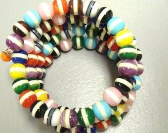 MULTI  COLORED MEMORY Bracelet