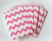 For Alex - 35 Small Favor Bags - 2.75 x 4 Pink Chevron paper bags