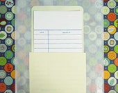10 Library Card Pockets with Self Adhesive Backs AND 10 Library Cards