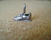 Vintage Sterling Silver Tennis Shoe Charm in 3D