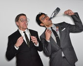 Mad Men Photo Booth Prop Set. Photo Props for holiday theme parties, weddings and showers.