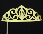 Photo Prop. Tiara Princess. Gold or Silver. Photo booth fun for parties, bachelorettes, and weddings.