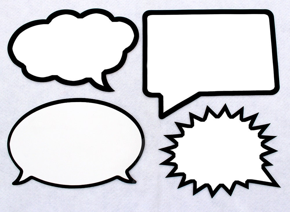 Sale dry erase speech bubble board large 11 inch wide for Photo booth speech bubble template