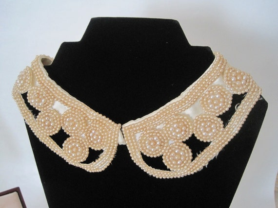 Vintage Faux Pearl Collar for Couture, Costume or Bridal