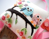 Hair clip holder-Felt owl, tree, flower-Great Room Deco- Great Gift