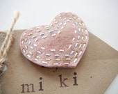 Miki's big Pink Heart hair clip