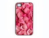 iphone 4 case Pink Rose Petals 1 - Choose Black Case or White Case