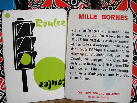 Vintage 1960 French MILLE BORNES game