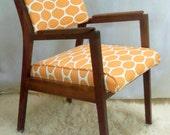 Mid Century Modern Walnut Chair Vintage Danish Retro Treasury Item