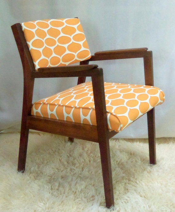 Mid Century Modern Walnut Chair Vintage Danish Retro Treasury Item