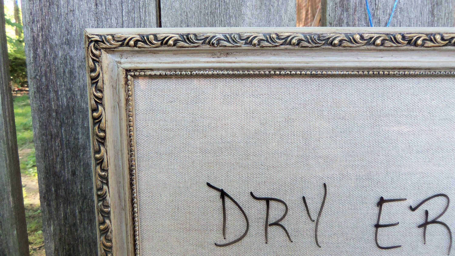 Framed Dry Erase Board Memo Linen Whiteboard
