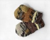 Hand Knitted Mittens for Children - Multicolor