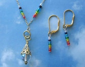 Chakra Aromatherapy Necklace with Matching Earrings