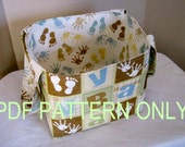 PDF Sewing Pattern, Diaper Caddy Sewing Pattern, Basket Sewing Pattern, Home Decor Basket, INSTANT Download