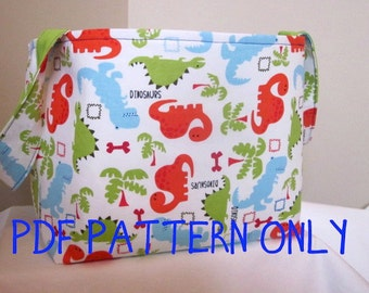 PDF Sewing Pattern / Fabric Diaper Caddy Sewing Pattern / Fabric Storage Basket Sewing Pattern, INSTANT Download
