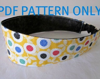 PDF Sewing Pattern Reversible Elastic Headband /  Fabric Headband Sewing Pattern / PDF Sewing Tutorial, INSTANT Download
