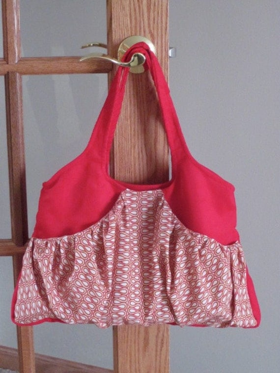 Red Corduroy Messenger / Laptop / Hobo Bag  FREE Medium Sized Key Chain Bag With  Purchase Of This Bag / CLEARANCE  WAS 30 dollars