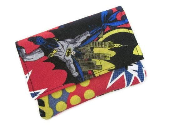 Wallet, credit card holder, gift card holder, Batman, superhero