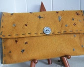 Handmade Felt Clutch (Handsewn and Embroidered)