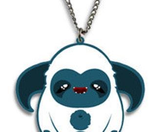 SALE - SLEEPY - Tomo's Yeti Sleepy, Kawaii Necklace Charm